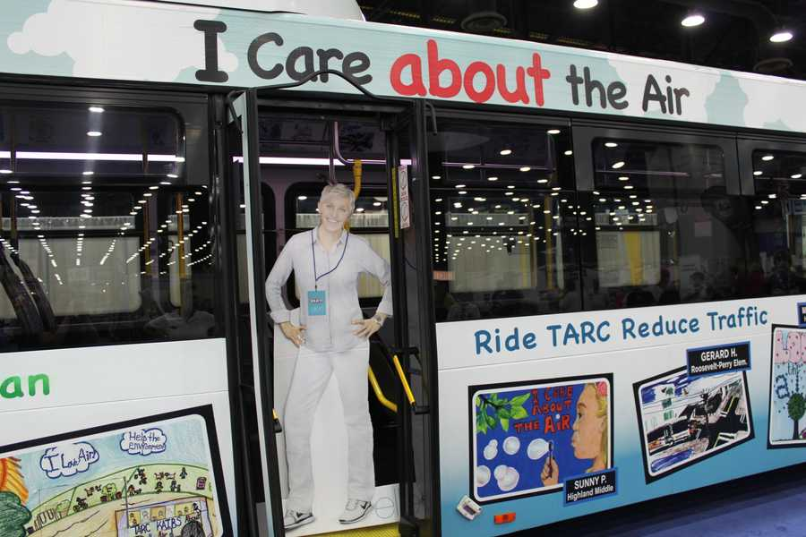 Ellen takes a ride on TARC