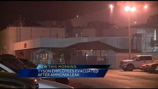 Tyson plant leak