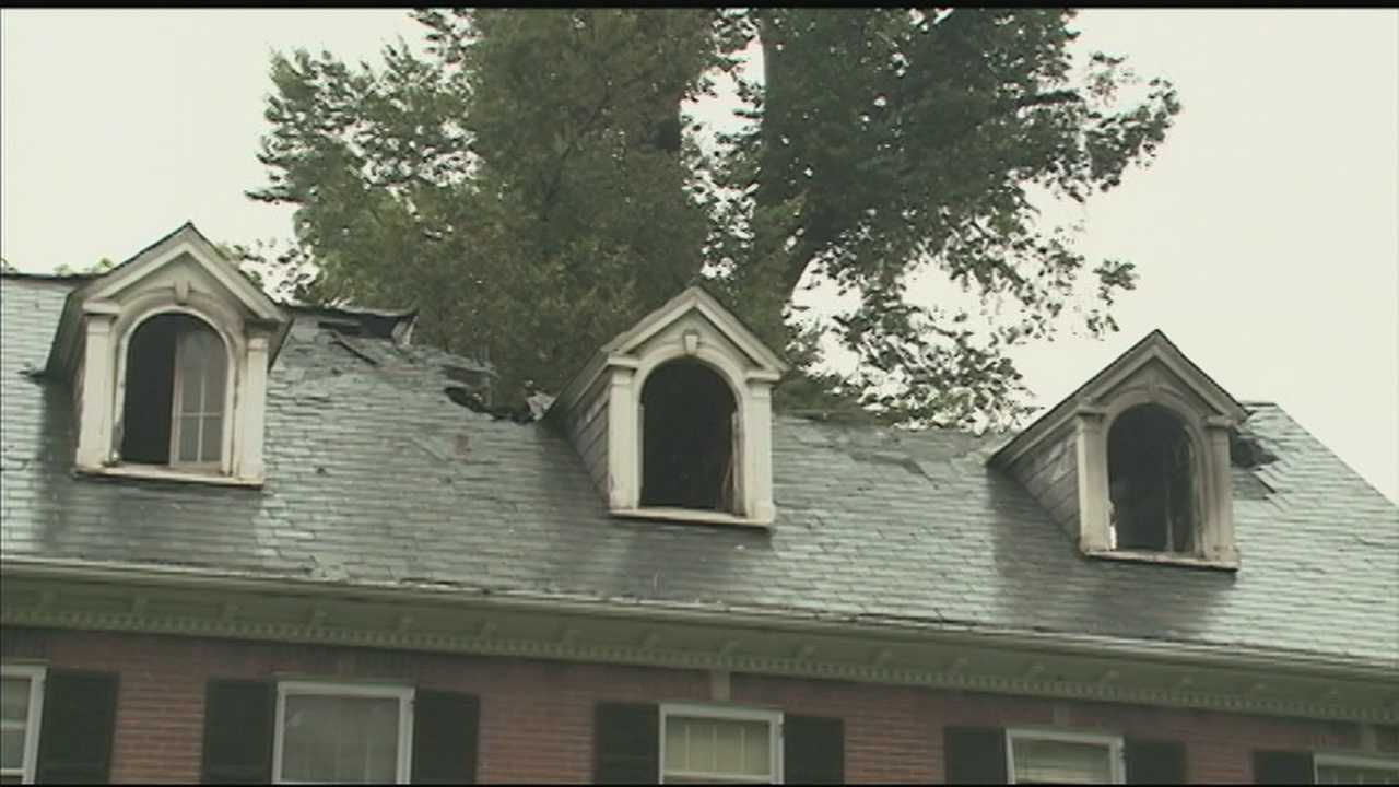 A Highlands home was destroyed after going up in flames Saturday night.