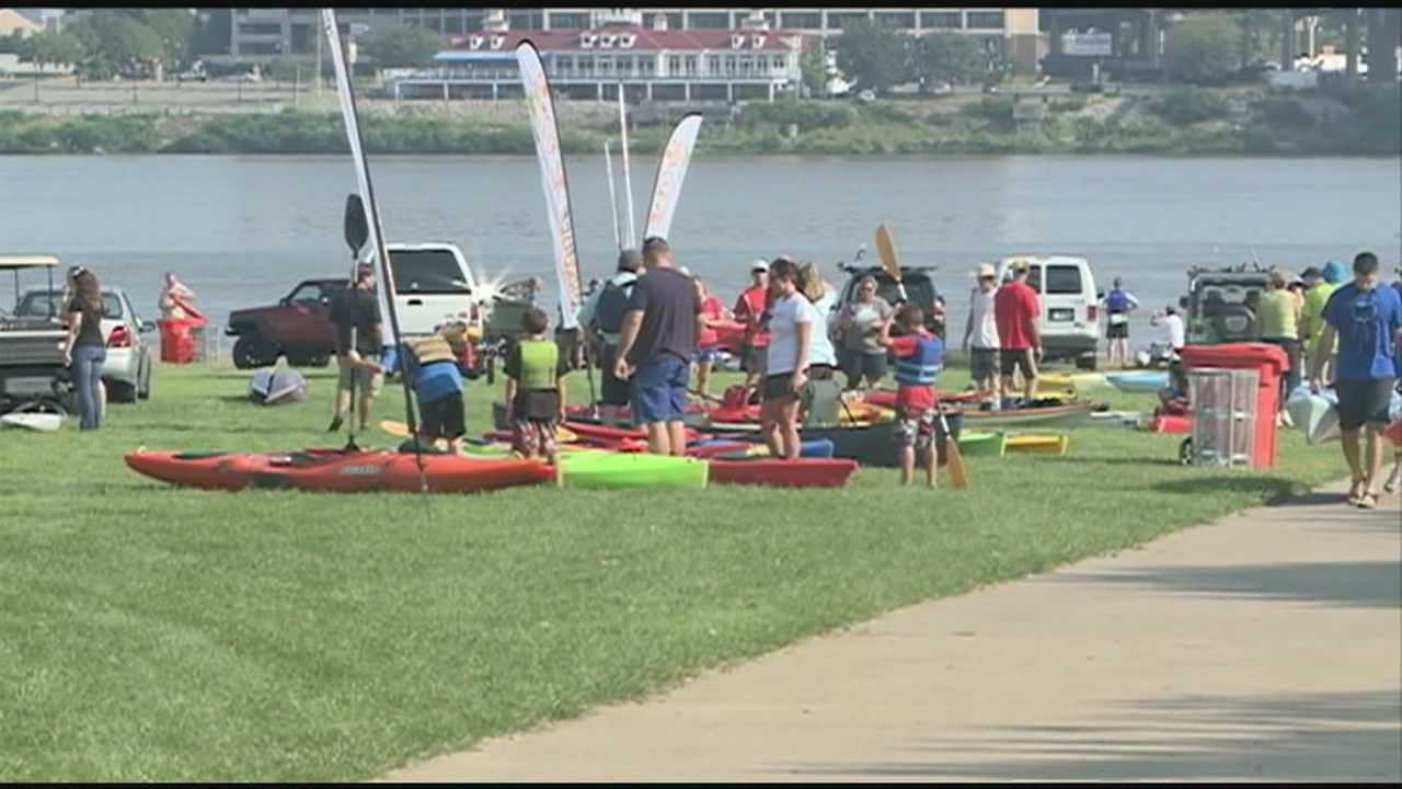 Thousands of people got moving on this Labor Day as part of Mayor Greg Fischer's Hike, Bike and Paddle.