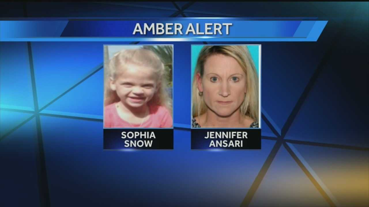 Police are looking for 8-year-old Sophia Snow and her mother, Jennifer Ansari.