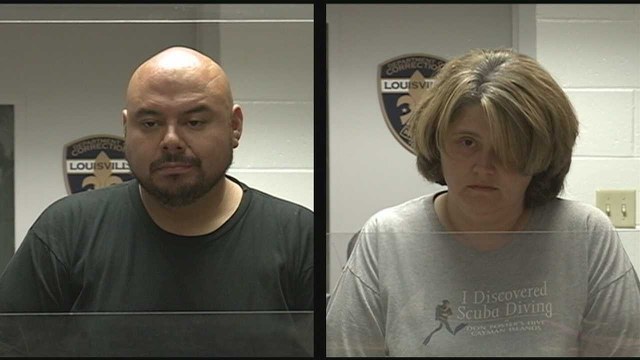 A couple busted in southern Indiana on prostitution charges a year ago was arrested in Louisville.