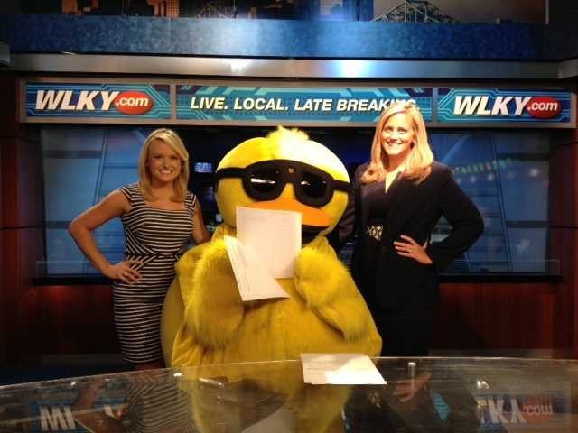 Quacky stopped by WLKY to sell ducks for the Harbor House of Louisville's annual fundraiser -- The Ken-Ducky Derby!