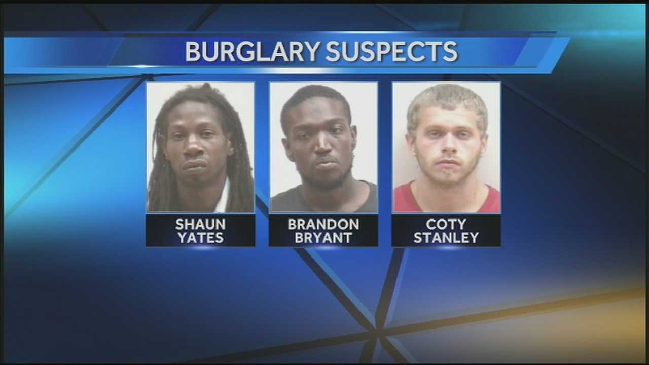 Three Clark County men are behind bars, charged in connection with a brazen daylight burglary while the victims were still in their home.