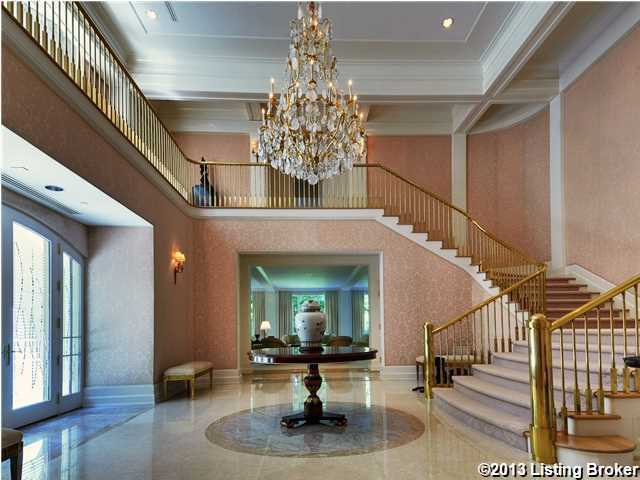 This view allows you to see how the expansive foyer in all its glory.