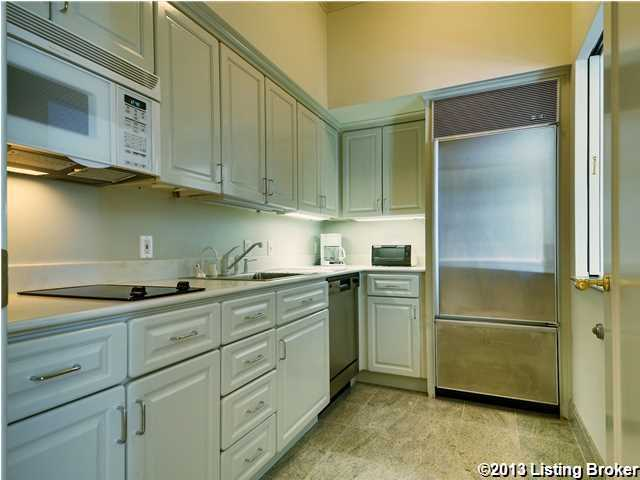 It's the perfect size kitchen for a personal space.
