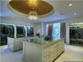 An unbelievable closet and dressing room.