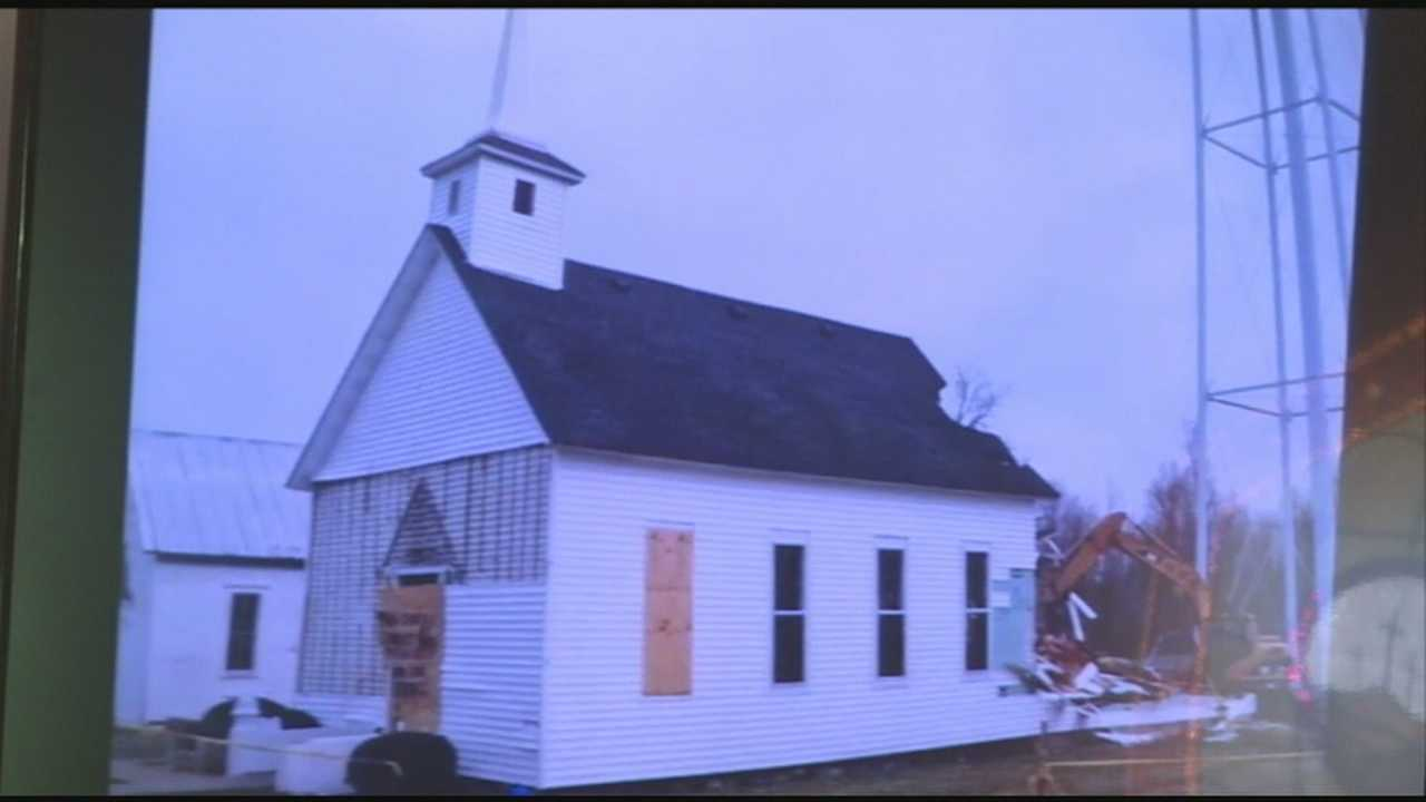 Seventeen months have passed since a tornado ripped through Marysville, Ind., and while much of the town has been rebuilt a hole in the community remained until Sunday, when the cornerstone of the community -- a small church, with a big heart - opened its doors once again.