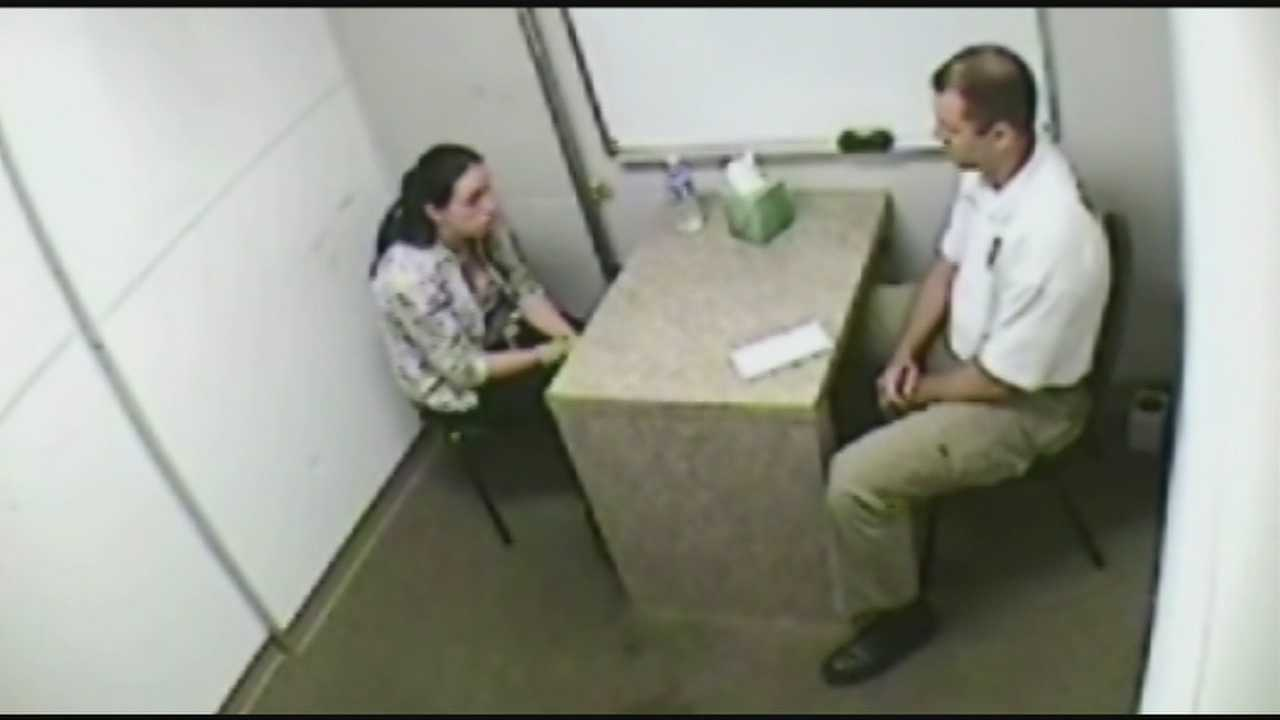 Video of the police interview with a Bullitt County woman accused of killing her newborn is released.