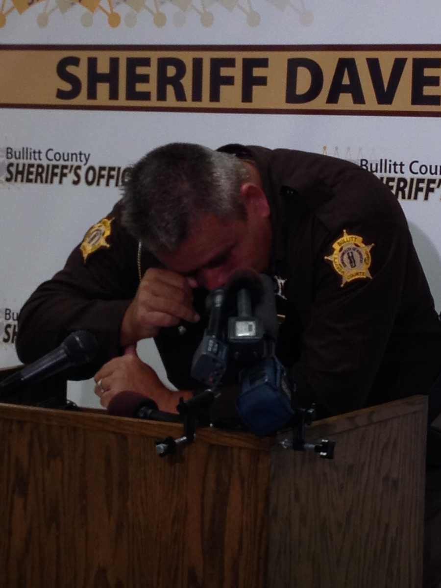 Bullitt County Sheriff Dave Greenwell, who was the first deputy at the scene, became emotional as he discussed the indictment of Stanley Dishon.