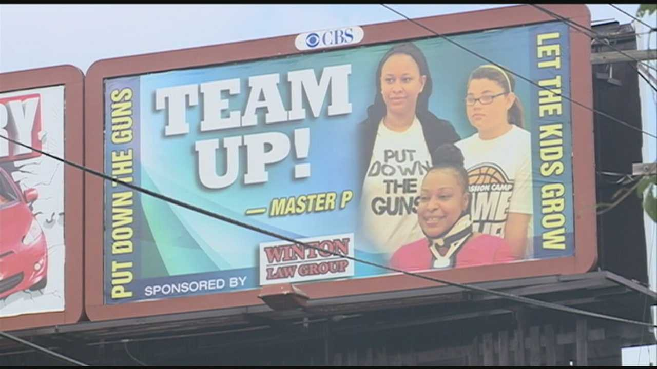 Billboards are going up in west Louisville to send a message against violence.