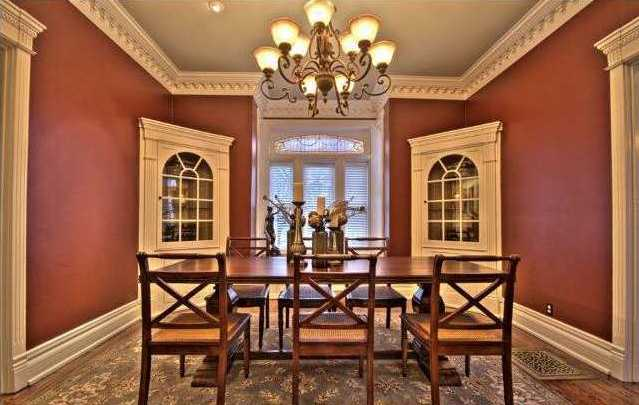 The dining room is perfect for entertaining over the holidays.