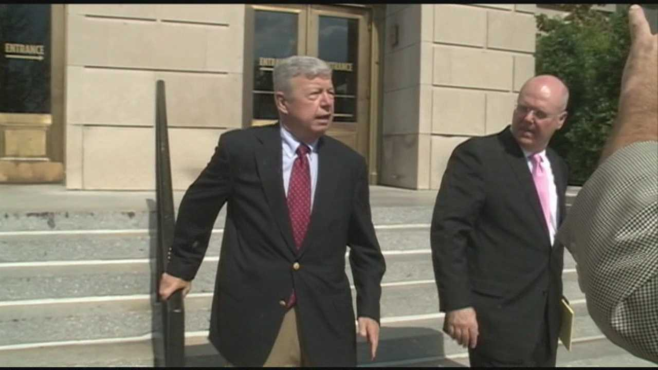 Charity founder Stan Curtis, who has been accused of embezzlement, appears in court Friday.