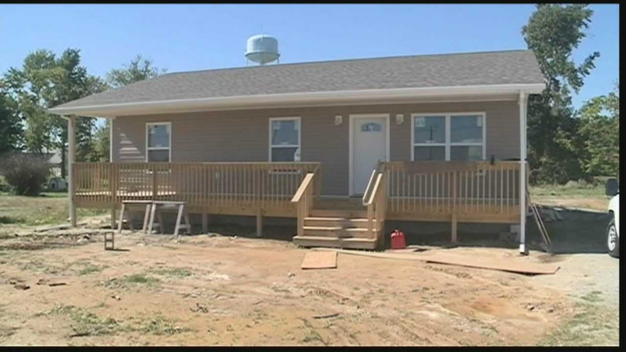 Rebuilding is done a year and a half after a tornado roared through the Indiana town of Marysville.