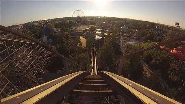 Kentucky Kingdom shows off a video of the newly-refurbished Thunder Run roller coaster.