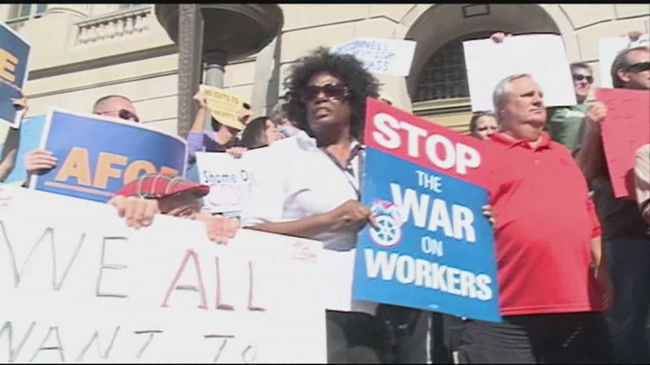 A rally was held in downtown Louisville on Friday to support workers affected by the government shutdown.