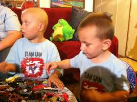 "A perfect match -- in bone marrow transplantation the chances of finding that are very rare, but it happened for one 7-year-old when his 3-year-old brother said he wanted to ""kick cancer's butt"" and became a donor."