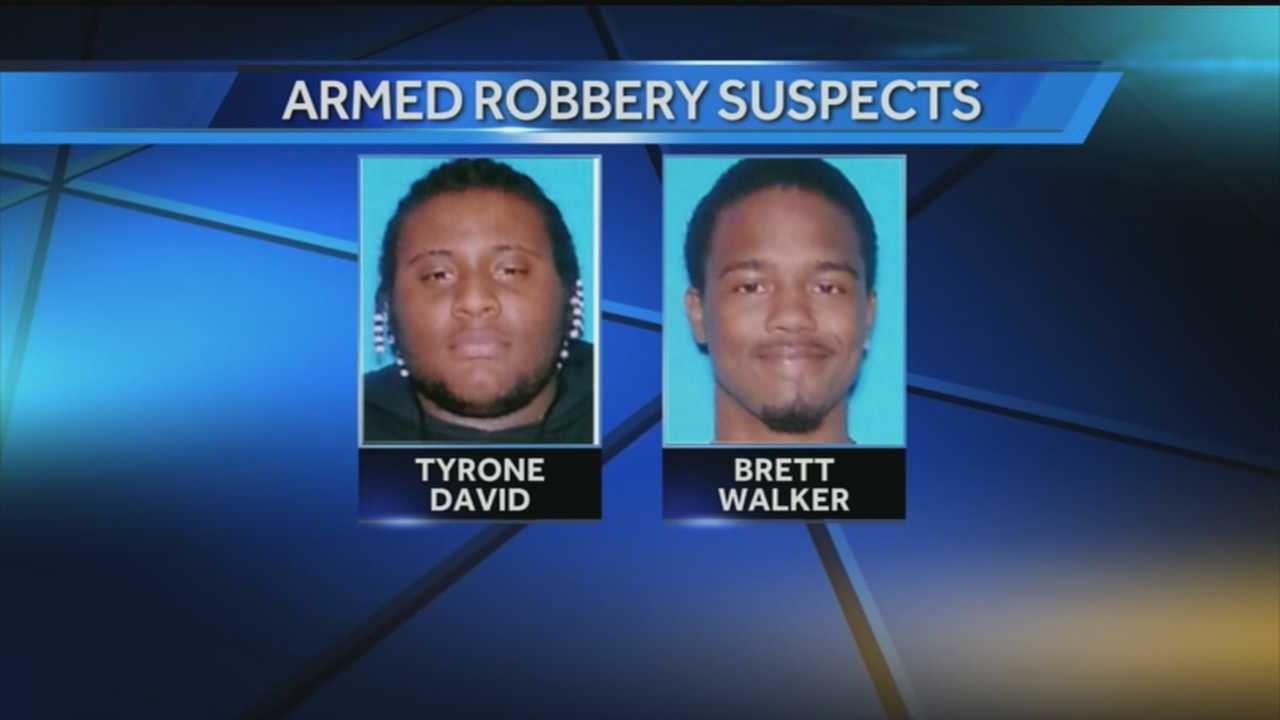 A woman helped police catch two robbery suspects.
