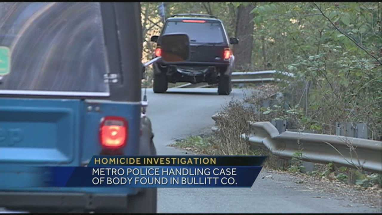 A homicide investigation is underway after a body was found in Bullitt County.