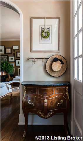 Sophisticated and charming accents are placed throughout the home.