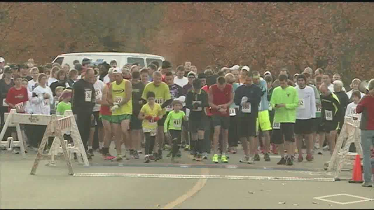 A lot of people were out Saturday morning supporting various causes.