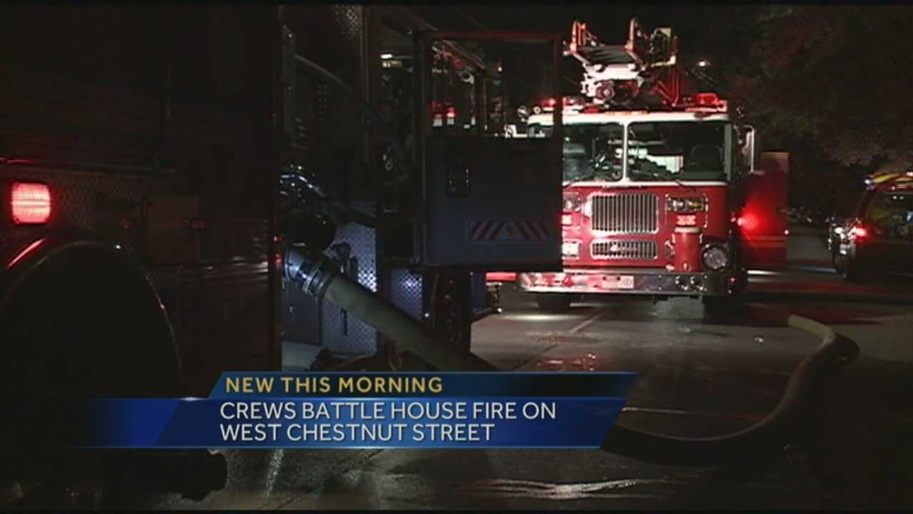 A fire broke out early Monday morning on West Chestnut Street.