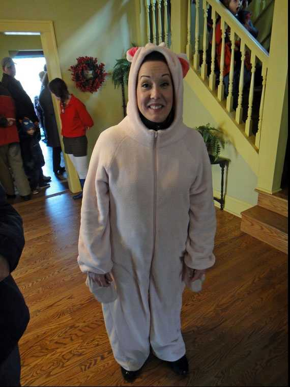 You can, if you dare, put on bunny suits like Ralphie and his brother wore (briefly) on Christmas morning.