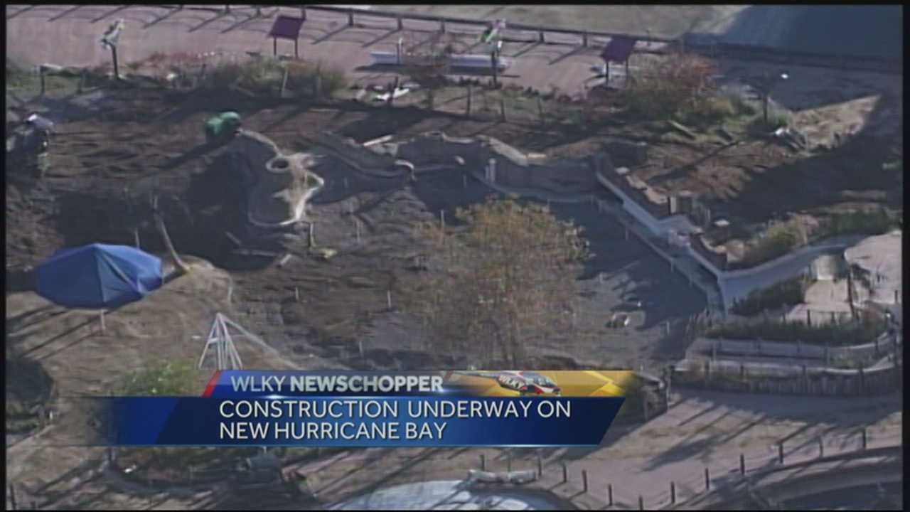 The WLKY NewsChopper spotted construction underway at the Kentucky Kingdom Amusement Park on Tuesday morning.