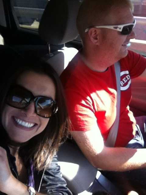 Reporter Marissa Alter selfies a shot with reluctant photojournalist Mike Barnett
