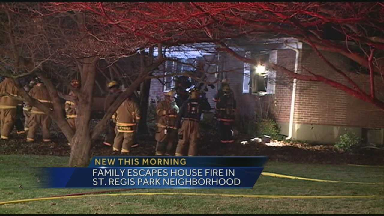 A family of seven escaped harm after their home caught fire.