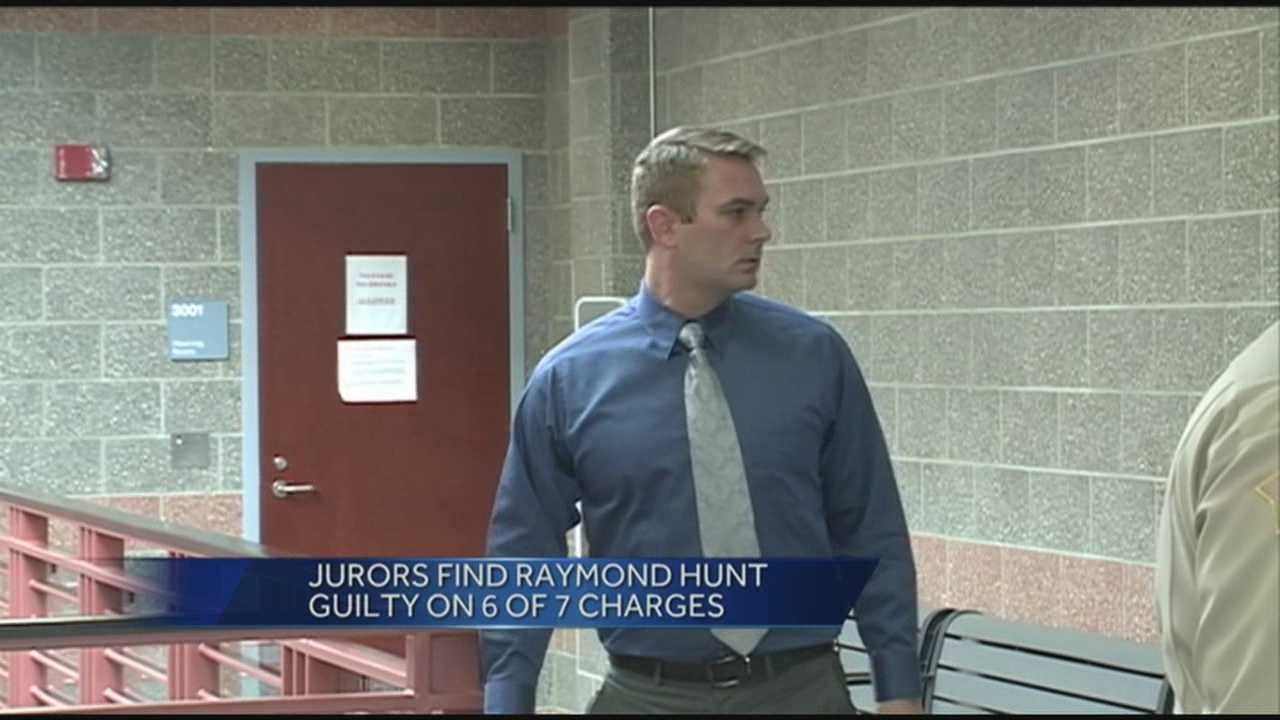 A former Indiana state trooper awaits sentencing after being found guilty in connection with a break in.