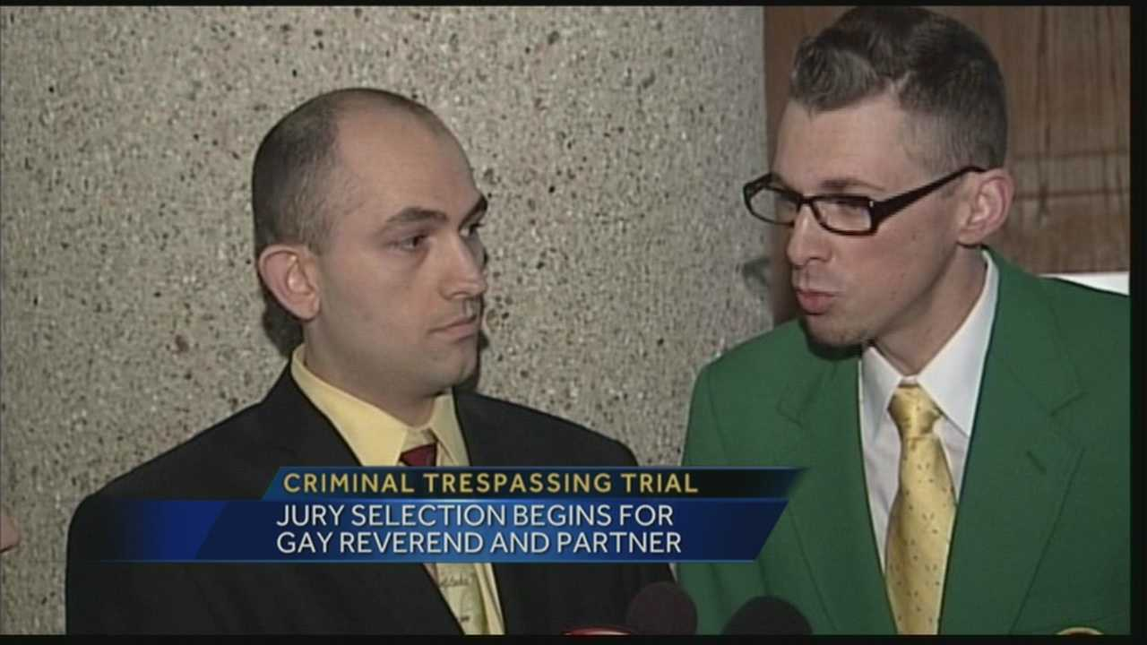 Trial under way for gay couple who protested marriage license