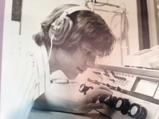 1970s: Getting my start as the engineering director at my high school radio station in St. Louis.