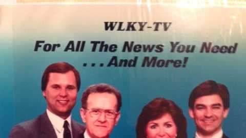1980s: WLKY news team (L-R John Belski, Ken Rowland, Liz Everman and Mike Hartnett)