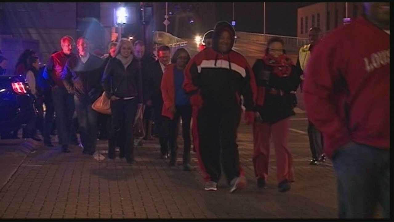 Light Up Louisville was held Friday night just blocks away from the KFC Yum! Center, where the Cardinals played Southern Miss.