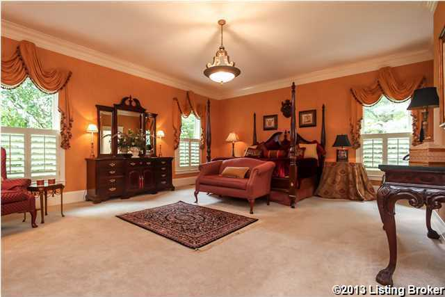 The first floor master suite (22x17) has 3 large windows, his and her dressing areas.