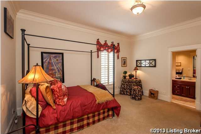 Another first floor bedroom/in-law suite with dentil crown molding, big closet and private bathroom.