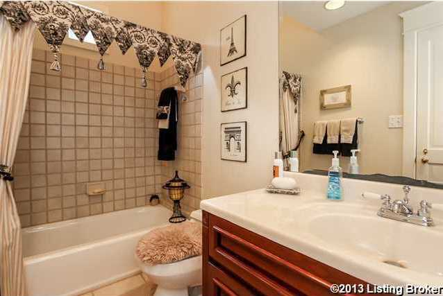 This is a view of the en-suite bathroom.