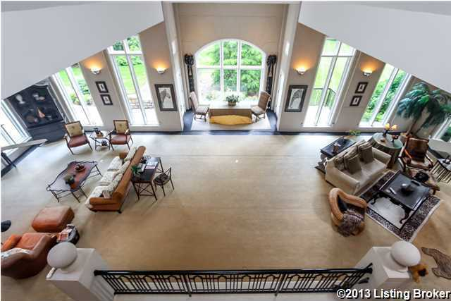 View of the family room from the balcony.