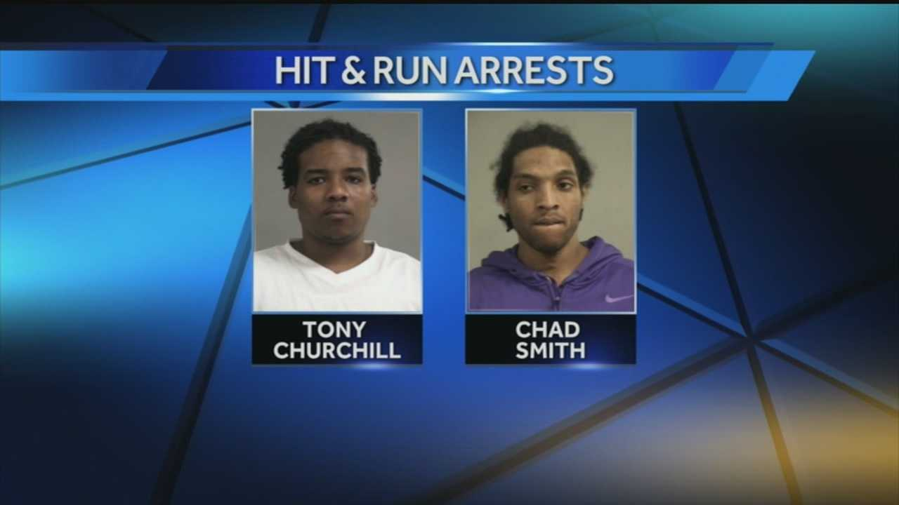 Two people were arrested in connection with a shooting and crash on Tuesday.