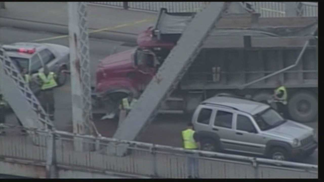 A man is dead after a crash Wednesday afternoon on the Clark Memorial Bridge.