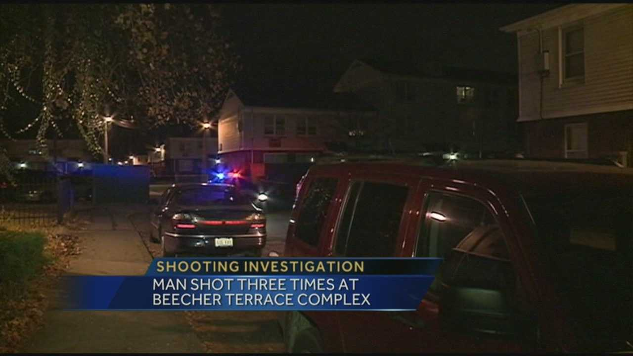 A man was shot three times at Beecher Terrace complex.