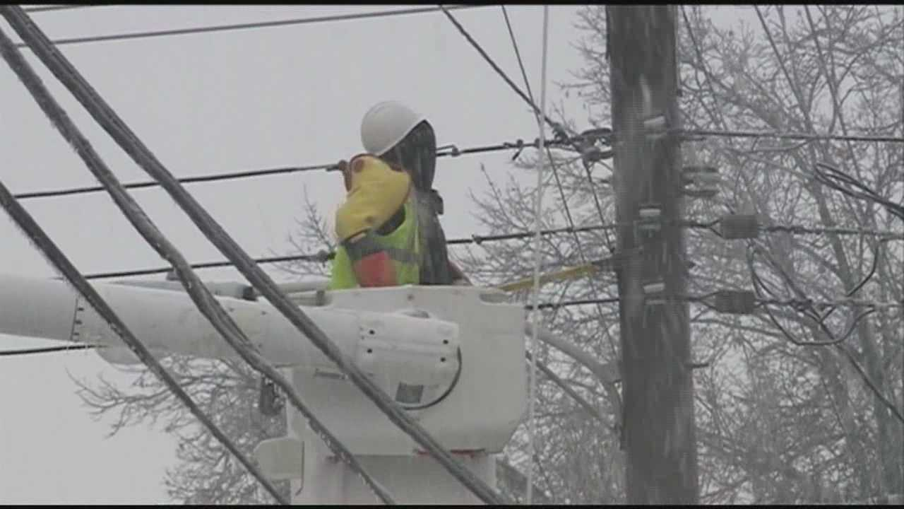 Friday's wintry weather led to some power outages throughout the area.