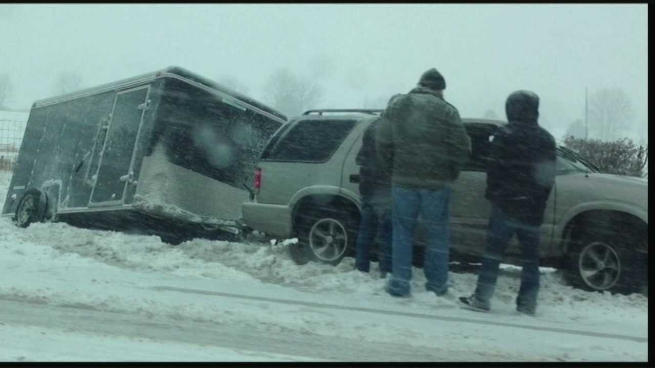 Friday's winter storm caused some Indiana counties to declare a state of emergency.
