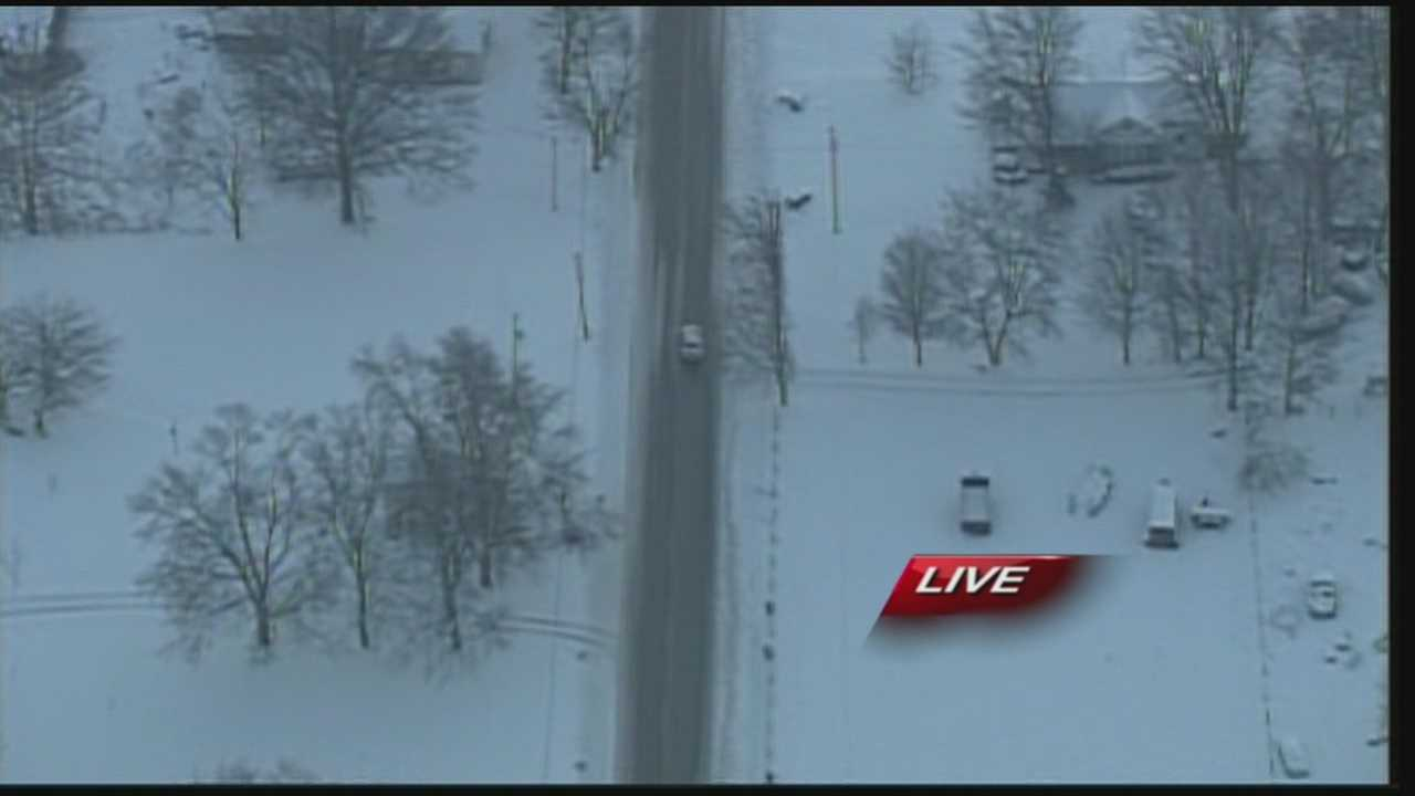 From the WLKY NewsChopper, Pilot Bill DeReamer reports on road conditions in southern Indiana.