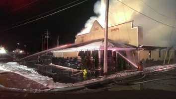 The following images are from the night of and immediately following the fire.