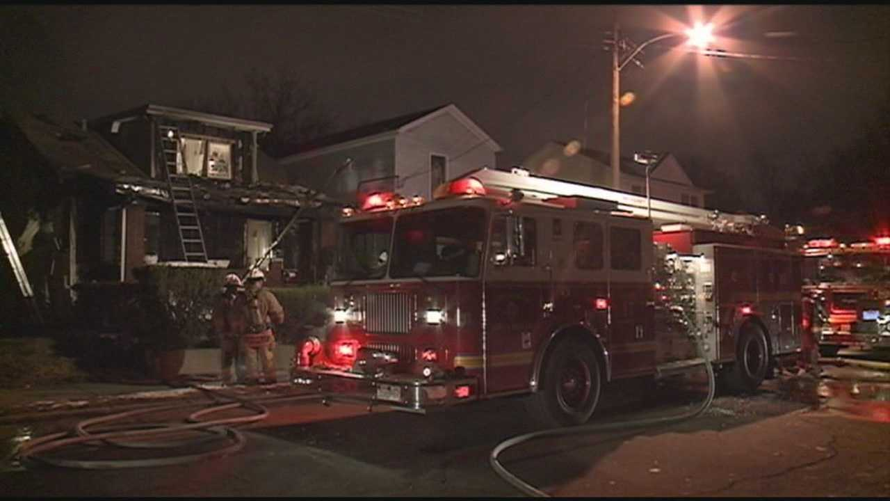 A west Louisville home is heavily damaged in a fire Wednesday night.