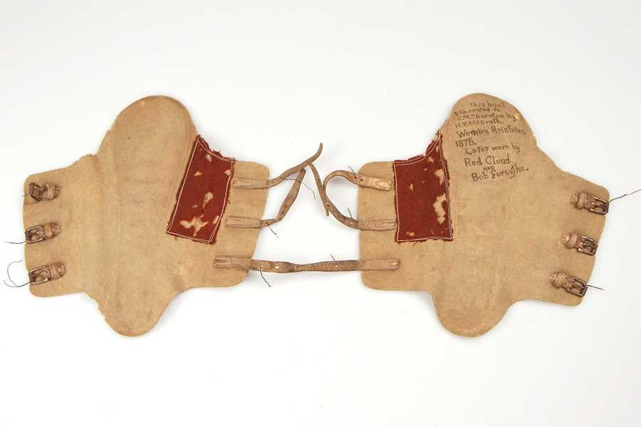 These are ankle boots worn by 1875 Kentucky Derby winner Aristides during his racing career.