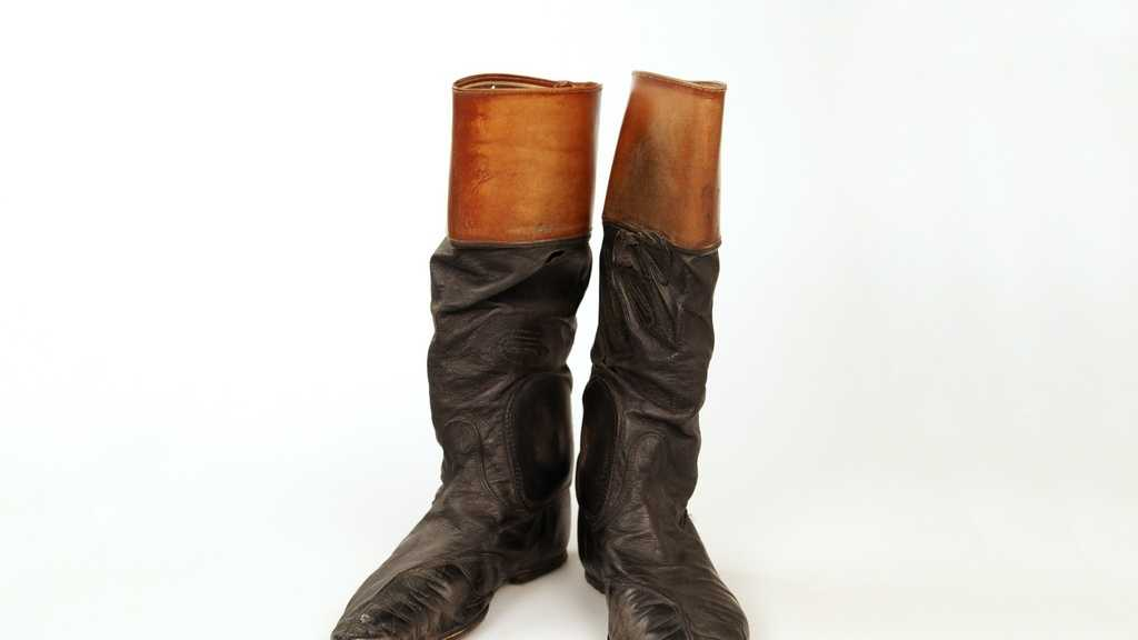 Diane Crump, the first female jockey to ride in the Kentucky Derby in 1970, wore these riding boots during her career.