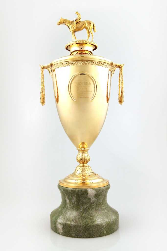 This is the 1925 Kentucky Derby Gold Cup won by Flying Ebony. It is the second to ever be presented and the oldest known in existence.